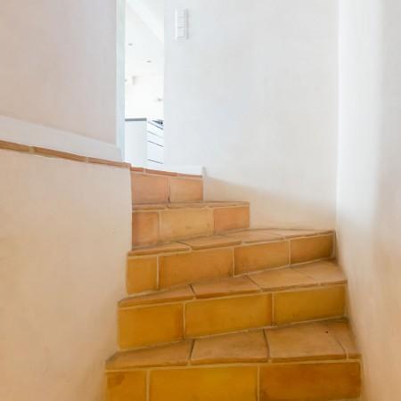 Treppe mit Cottofliesen