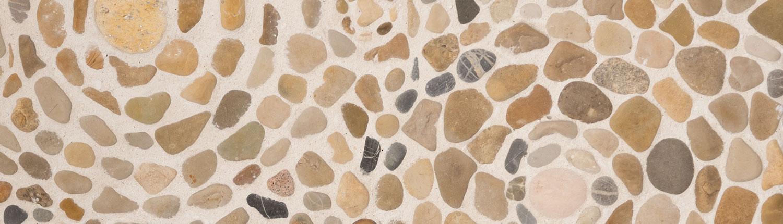 Steinwand als Mosaik